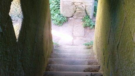 Mosteiro Bon Xesús. Subida celdas