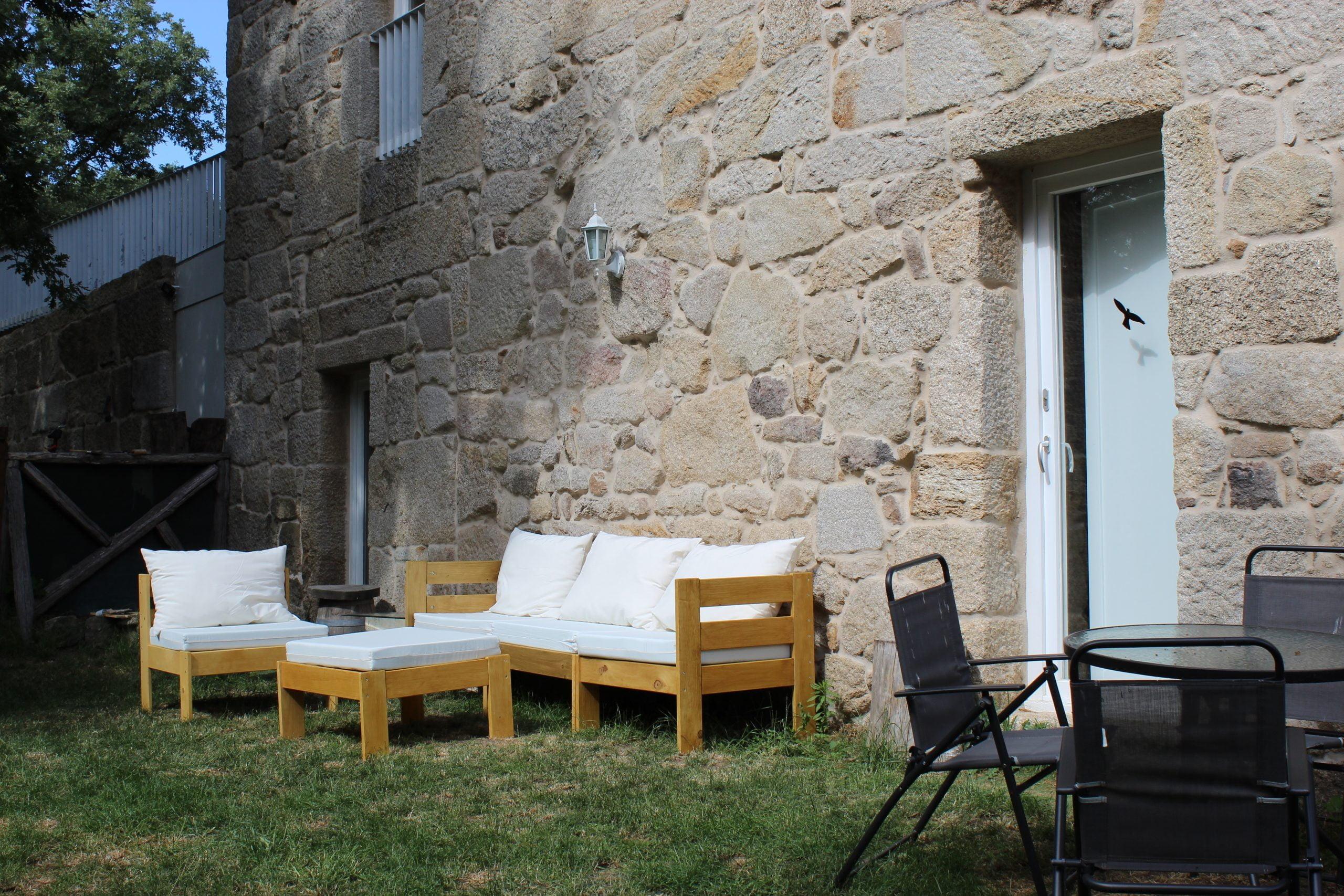 Casa do Mosteiro. Espacios comunes.  Salón de jardín.
